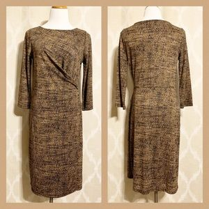 Talbots long sleeve faux wrap dress M